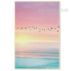 Flying Flamingo Birds Sunset Landscape Art