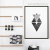Black and White Abstract Symbol Digital Print