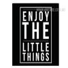 Enjoy The Little Things Letters Nursery Wall Art