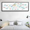 Modern Colorful Fish Minimalist Design Panoramic Wall Art