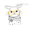 Nordic Cute Animal Rabbit Design Scandinavian Art