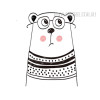 Nordic Cute Animal Bear Design Scandinavian Art