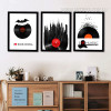 I Love Rock and Roll Music Modern Art Prints