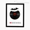 I Love Rock and Roll Black Red Modern Print