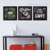 Welcome Coffee House Design Vintage Canvas Wall Art