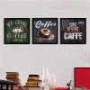 Welcome Coffee House Design Vintage Painting Prints