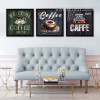 Welcome Coffee House Design Vintage Canvas Prints