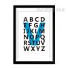 Black Alphabets Print