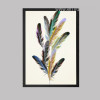 Nordic Colorful Feathers Creative Canvas Print
