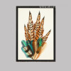 Nordic Golden Brown Feathers Creative Digital Print