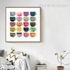 Watercolor Pattern Coffee Mugs Canvas Print