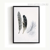 Abstract Beautiful Feathers Print Vintage Canvas