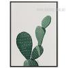 Green Cactus Plant Watercolor Art