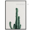 Green Cactus Plant Watercolor Art Canvas Print