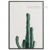 Green Cactus Plant Watercolor Art Canvas Print