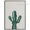 Green Cactus Plant Watercolor Art Print