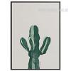 Green Cactus Plant Watercolor Art Print