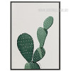 Green Cactus Plant Watercolor Art