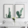 Abstract Watercolor Green Succulent Contemporary Botanical Print