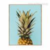 Golden Green Pineapple Fruit Canvas Print
