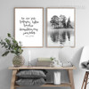 To Nie Jest Words Deep Forest Design Canvas Prints