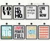 Life is Now HoHoHo Love is Powerfull Dream Big Quotes Design Large Wall Art