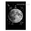 Moon Design Black and White Canvas Print