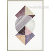 Abstract Geometric Pattern Colorful Triangles Circle Wall Art Decor
