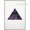 Abstract Geometric Pattern Purple Triangle Design Wall Art Decor