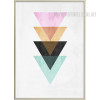 Abstract Geometric Pattern Colorful Triangles Design Wall Art Decor