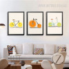 Creatively Lemon Orange Fruit Bike Digital Canvas Art