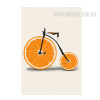 Creatively Orange Fruit Bike Digital Canvas Print
