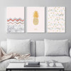 Abstract Nordic Style Yellow Golden Pineapple Dots Canvas Wall Prints