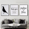 Hangry Letters Black Crow Perfection is Boring Black and White Canvas Wall Art