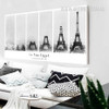 Black and White Creative La Tour Eiffel Tower Panoramic Canvas Wall Art