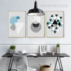 Abstract Geometric Pattern Triangles Circle Modern Canvas Art