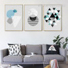 Abstract Geometric Pattern Triangles Circle Modern Canvas Prints