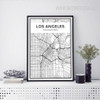 United States of America LOS ANGELES City Map Canvas Print