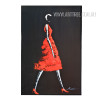 Abstract Red Fashion Model on Ramp Digital Print