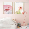 Pink Rose Flower Flamingo Bird Digital Canvas Prints