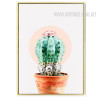 Abstract Green Cactus Botanical Print