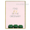 Find Joy in the Ordinary Cactus Quote Canvas Print