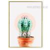 Abstract Green Cactus Botanical Print