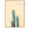Abstract Green Long Cactus Plant Watercolor Print