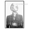 Scary Human Forest Black and White Canvas Print