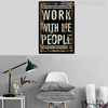 Work With Me People Quote Vintage Poster Canvas Print