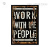 Work With Me People Quote Vintage Print