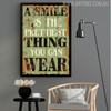 A Smile is The Prettiest Thing You Can Wear Motivational Quote Digital Art