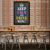 Keep Calm and Drink Wine Typography Art Kitchen Wall Print