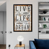 Live The Life You Dream Inspirational Quote Canvas Print